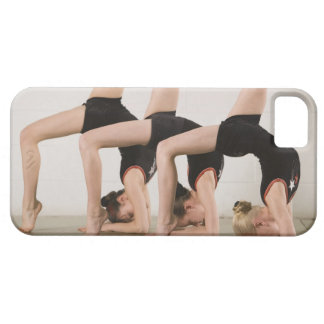 Gymnasts posing upside down iPhone 5 cover