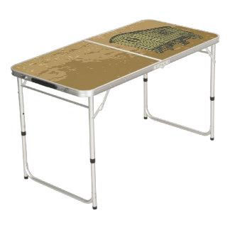 Gypsy caravan wagon pong table