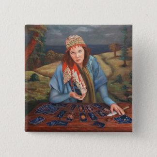 Gypsy Fortune Teller Button