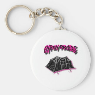 Gypsy Pride Camp Pink Basic Round Button Key Ring