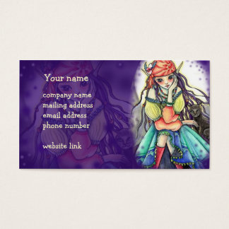 """Gypsy Witch & Cat """"The Visitor"""" Business Card"""