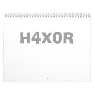 H4X0R WALL CALENDAR