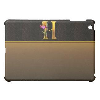 H Gold Iris Monogram  Case For The iPad Mini