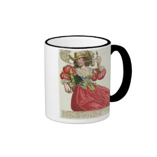 Habit of a wealthy lady about 1630 (coloured engra coffee mugs