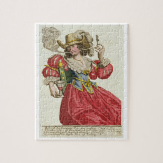 Habit of a wealthy lady about 1630 (coloured engra jigsaw puzzle