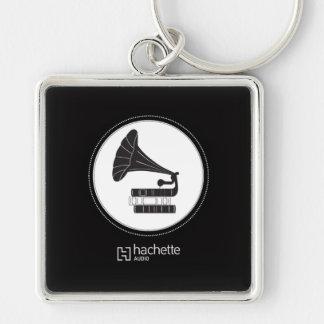 hachette audio booktrola key Silver-Colored square key ring