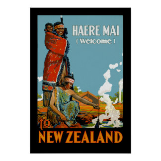 Haere Mai (Welcome) to New Zealand Poster