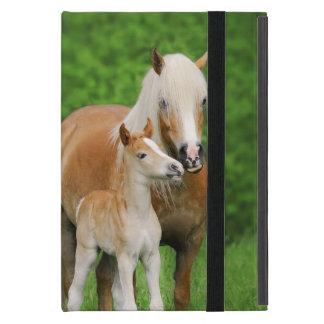 Haflinger Horses Cute Foal Kiss Mum  - Protection iPad Mini Case
