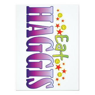 Haggis Eat 14 Cm X 19 Cm Invitation Card