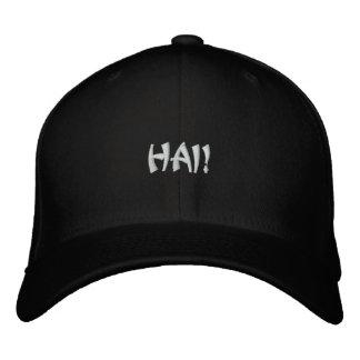 HAI! Dark Cap Embroidered Hat