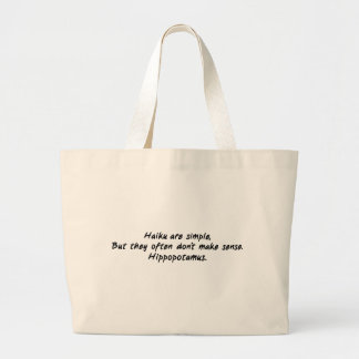 Haiku Are Simple Large Tote Bag