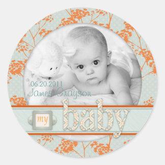 Haiku Baby Photo Sticker