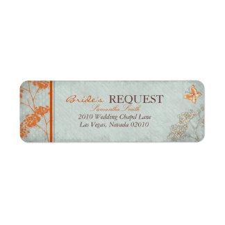 Haiku Bride Return Label Return Address Label