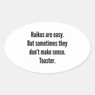 Haikus Are Easy Oval Sticker