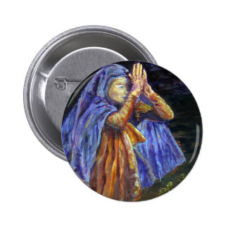 Hail Mary Rosary painting Art 6 Cm Round Badge