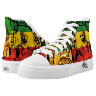 Haile Selassie High Top Sneakers