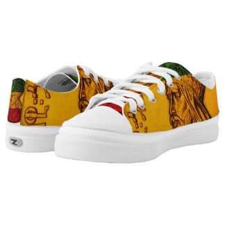 Haile Selassie Shoes Lace up Low Top Sneakers