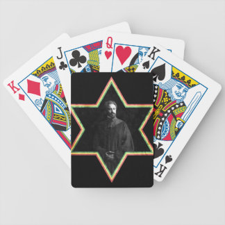 Haile Selassie Star of David Bicycle Playing Cards