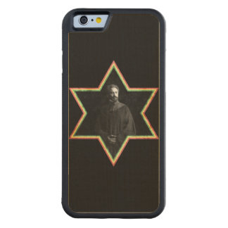 Haile Selassie Star of David Carved Maple iPhone 6 Bumper Case