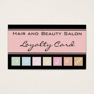 Hair and Beauty Salon Pink Loyalty Card