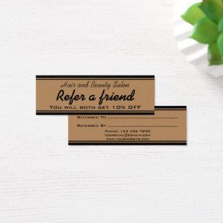 Hair and Beauty Salon Referral Card