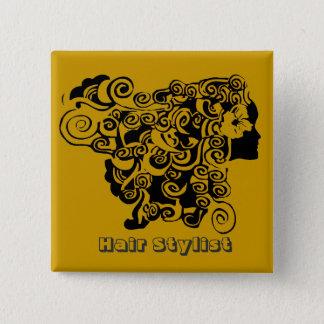 Hair Salon Promotional  Hair Stylist 15 Cm Square Badge