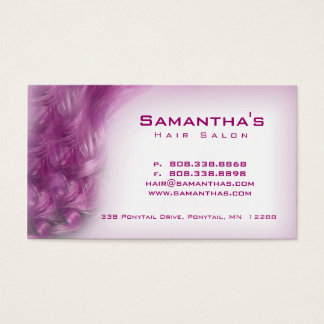Hair Salon Spa Appointment Card purple pink