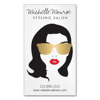 Hair Salon, Stylist, Beauty Girl Magnetic Business Cards