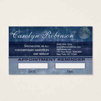 Hair Stylist Appointment Reminder Business Card