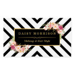 Hair Stylist Beauty Salon Gold Vintage Floral Pack Of Standard Business Cards