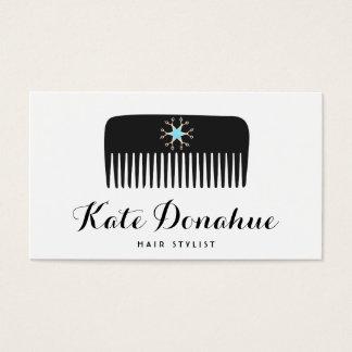 Hair Stylist Comb Scissors White Hair Salon