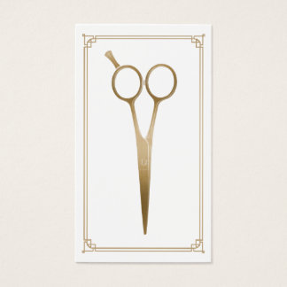 Hair Stylist Gold Scissor Hairdresser Hair Salon Business Card