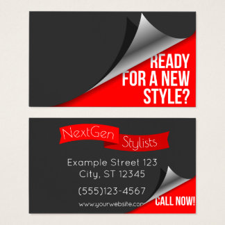Hair Stylist - Hairdresser - Barber Business Card
