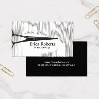 Hair Stylist Hairdresser Hairstylist Professional Business Card