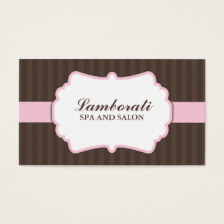 Hair Stylist Hairdresser Salon Elegant Cute Pink Business Card