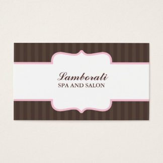 Hair Stylist Hairdresser Salon Pink Elegant Cute Business Card