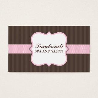 Hair Stylist Hairdresser Salon Pink Elegant Cute Business Card