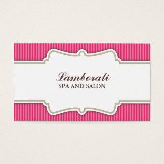 Hair Stylist Hairdresser Salon Pink Elegant Retro Business Card