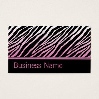Hair Stylist Hairdresser Salon Pink Zebra Print Business Card