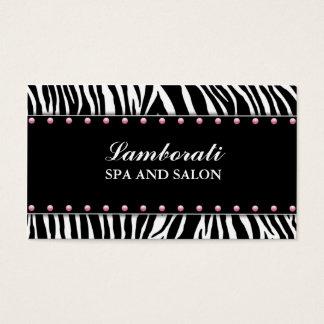 Hair Stylist Hairdresser Salon Spa Zebra Print Business Card