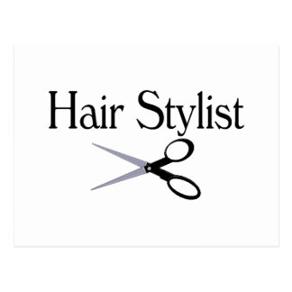 Hair Stylist Scissors Postcard