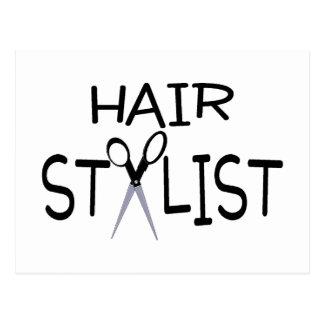 Hair Stylist with Scissors Postcard