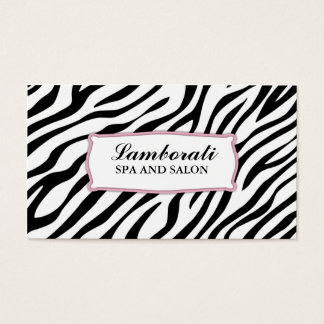 Hair Stylist Zebra Print Hairdresser Salon Pink Business Card