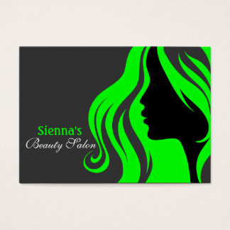 Hairdresser Appointment Card (Lime)