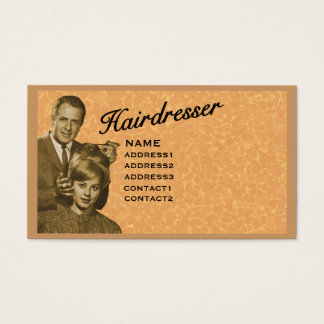 HAIRDRESSER - VERY PROFESSIONAL PROFILE (3A) BUSINESS CARD