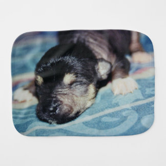 Hairless Chinese Crested Puppy Dog Spit-Up Burp Cloth