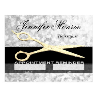 Hairstylist Appointment Reminder Postcard