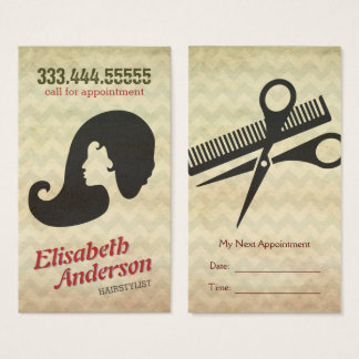 Hairstylist Beauty Salon Appointment Reminder Card