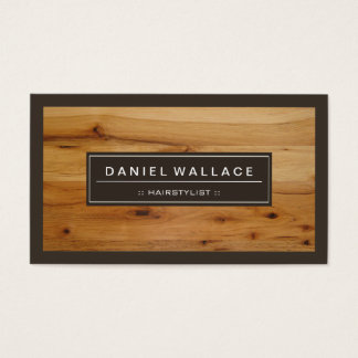 Hairstylist - Classy Wood Grain Look Business Card