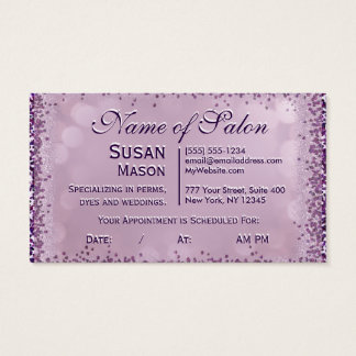 Hairstylist Glitter Glam w/ Appointments Business Card